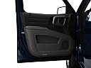 2011 Honda Ridgeline RTS, inside of driver's side open door, window open.