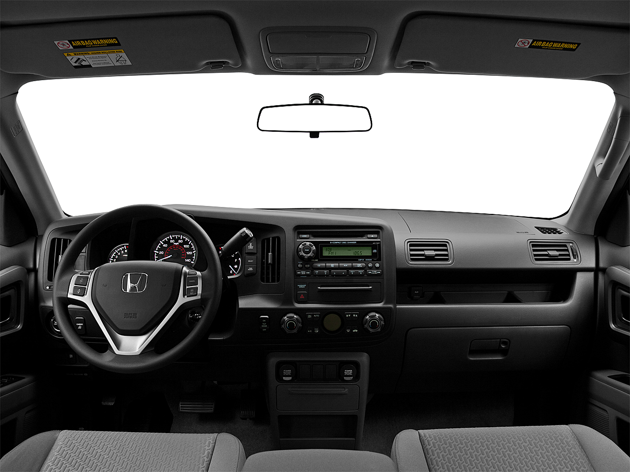 2011 Honda Ridgeline RTS, centered wide dash shot