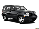 2011 Jeep Liberty Sport, front passenger 3/4 w/ wheels turned.