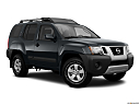 2011 Nissan Xterra S, front passenger 3/4 w/ wheels turned.