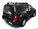 2011 Nissan Xterra S, rear 3/4 angle view.