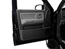 2011 Ram Trucks Dakota Big Horn, inside of driver's side open door, window open.