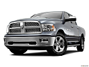 2011 Ram Trucks Ram 1500 Laramie, front angle view, low wide perspective.