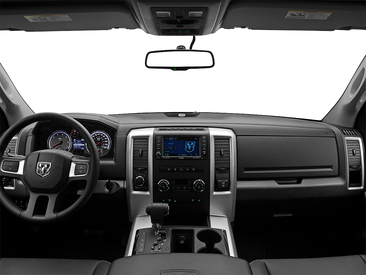 2011 Ram Trucks Ram 1500 Sport Quad, centered wide dash shot