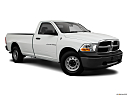 2011 Ram Trucks Ram 1500 ST, front passenger 3/4 w/ wheels turned.