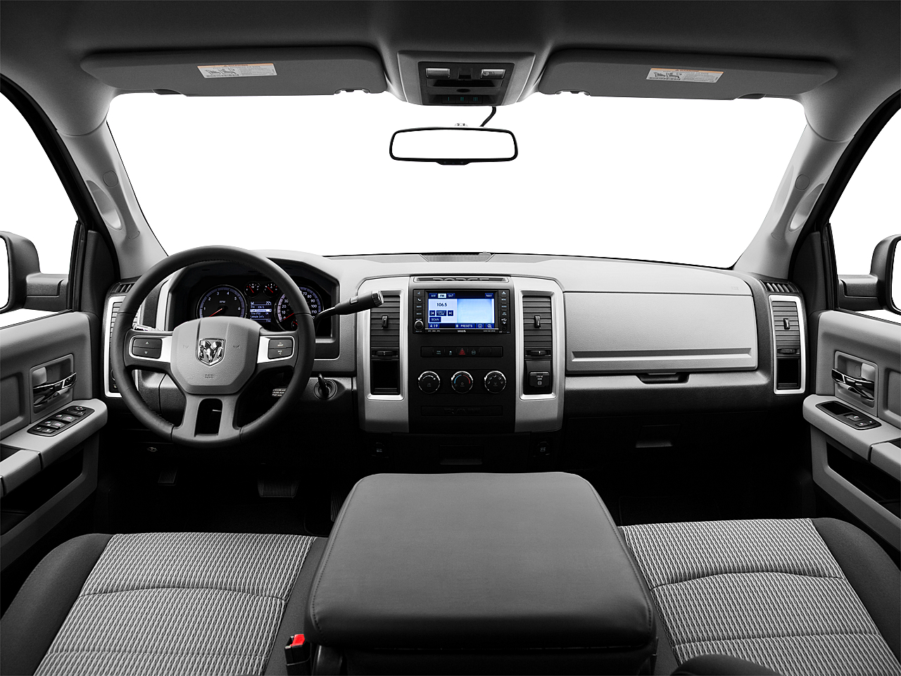 2011 Ram Trucks Ram 1500 SLT, centered wide dash shot