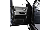 2011 Ram Trucks Ram 1500 SLT Quad, inside of driver's side open door, window open.