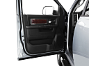 2011 Ram Trucks Ram 2500 Laramie Mega Cab, inside of driver's side open door, window open.