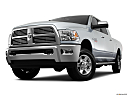 2011 Ram Trucks Ram 2500 Laramie Mega Cab, front angle view, low wide perspective.