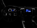 "2011 Ram Trucks Ram 2500 Laramie Mega Cab, centered wide dash shot - ""night"" shot."