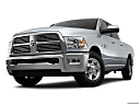 2011 Ram Trucks Ram 2500 Laramie, front angle view, low wide perspective.