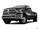 2011 Ram Trucks Ram 3500 DRW Laramie, front angle view, low wide perspective.