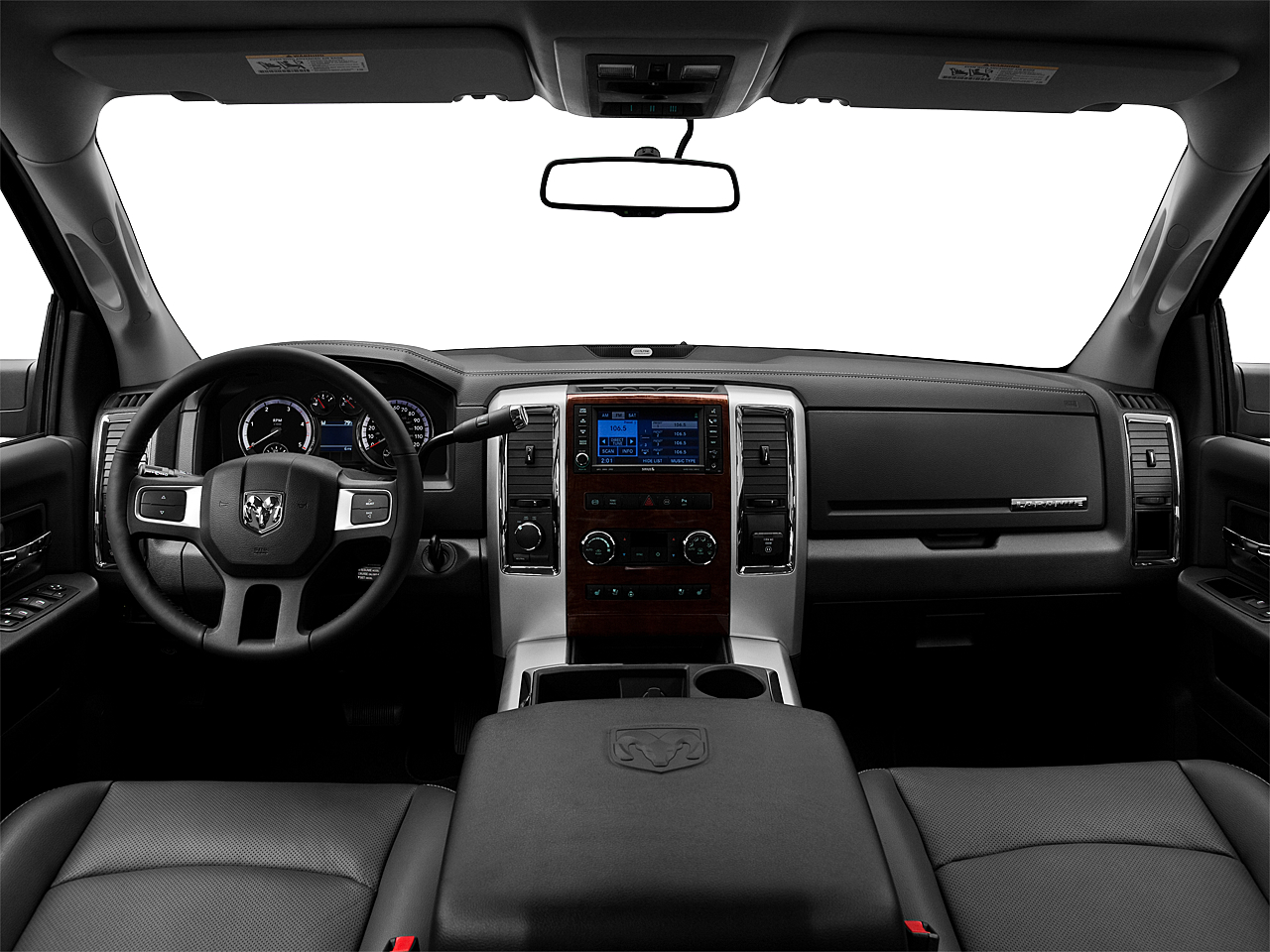 2011 Ram Trucks Ram 3500 Laramie, centered wide dash shot