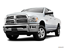 2011 Ram Trucks Ram 3500 Laramie, front angle view, low wide perspective.