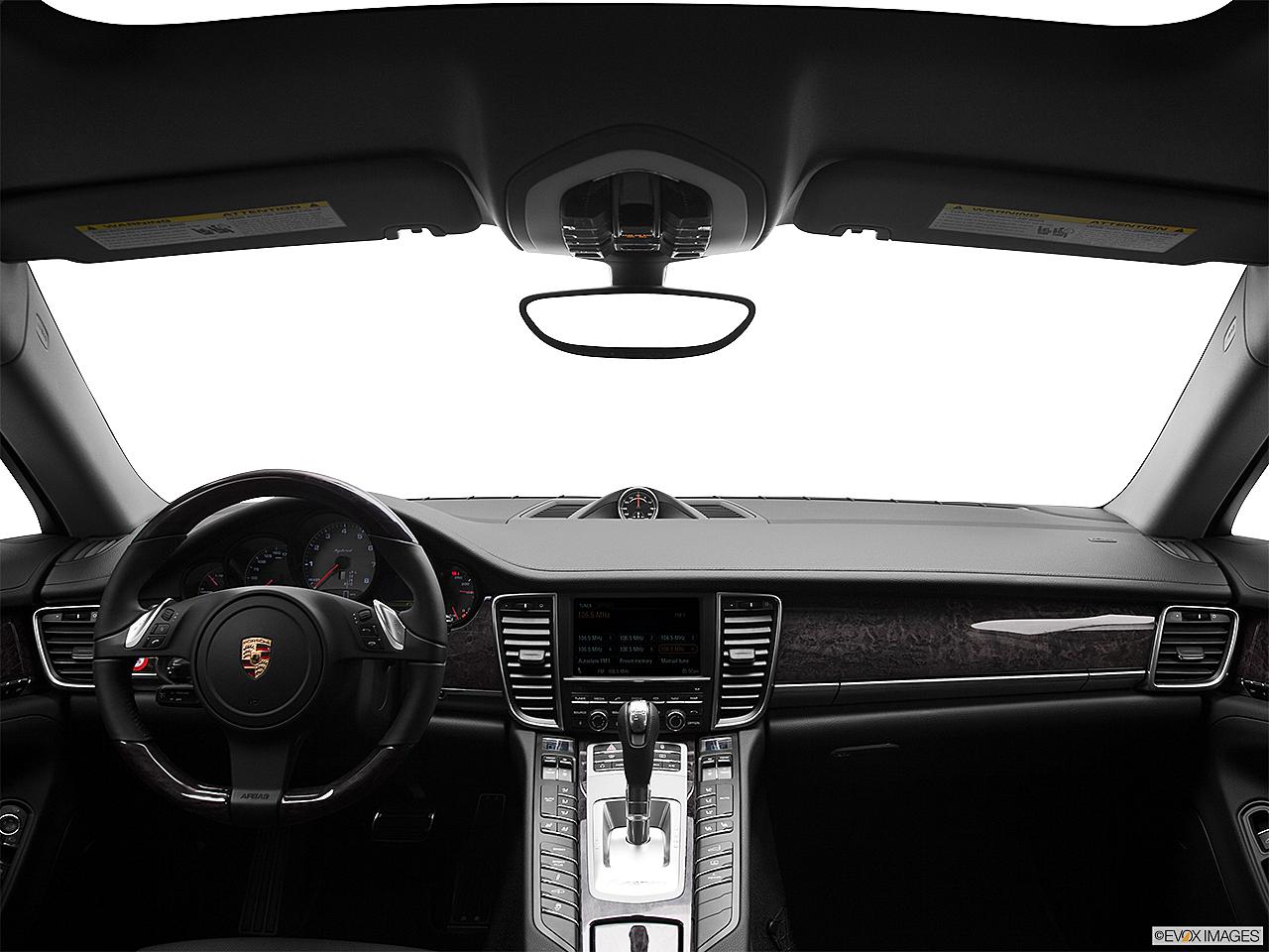 2012 Porsche Panamera S Hybrid, Centered Wide Dash Shot