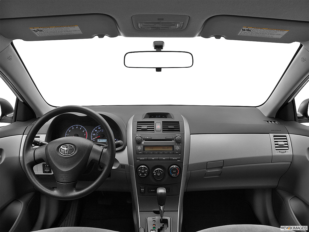 2012 toyota corolla l centered wide dash shot