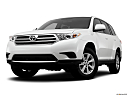 2012 Toyota Highlander, front angle view, low wide perspective.