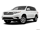 2012 Toyota Highlander, front angle medium view.