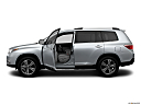2012 Toyota Highlander Limited, driver's side profile with drivers side door open.