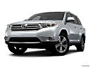 2012 Toyota Highlander Limited, front angle view, low wide perspective.