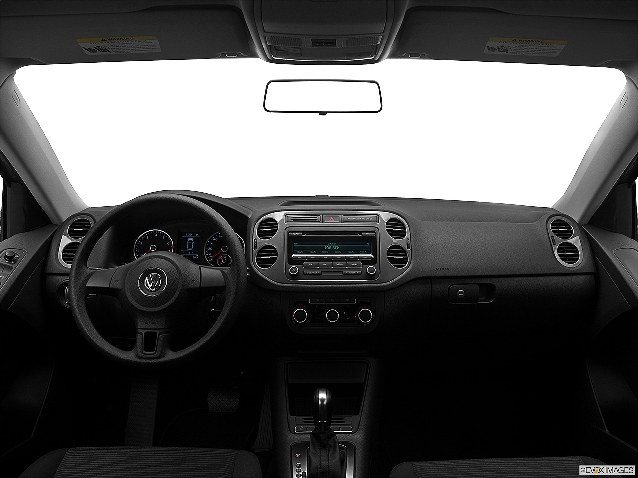 2012 Volkswagen Tiguan S, centered wide dash shot