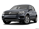 2012 Volkswagen Tiguan S, front angle view, low wide perspective.