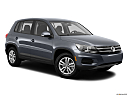 2012 Volkswagen Tiguan S, front passenger 3/4 w/ wheels turned.