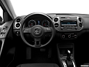 2012 Volkswagen Tiguan S, steering wheel/center console.