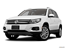 2012 Volkswagen Tiguan SE w/Sunroof and Nav, front angle view, low wide perspective.