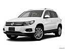 2012 Volkswagen Tiguan SE w/Sunroof and Nav, front angle medium view.