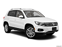 2012 Volkswagen Tiguan SE w/Sunroof and Nav, front passenger 3/4 w/ wheels turned.