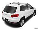 2012 Volkswagen Tiguan SE w/Sunroof and Nav, rear 3/4 angle view.