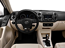 2012 Volkswagen Tiguan SE w/Sunroof and Nav, steering wheel/center console.