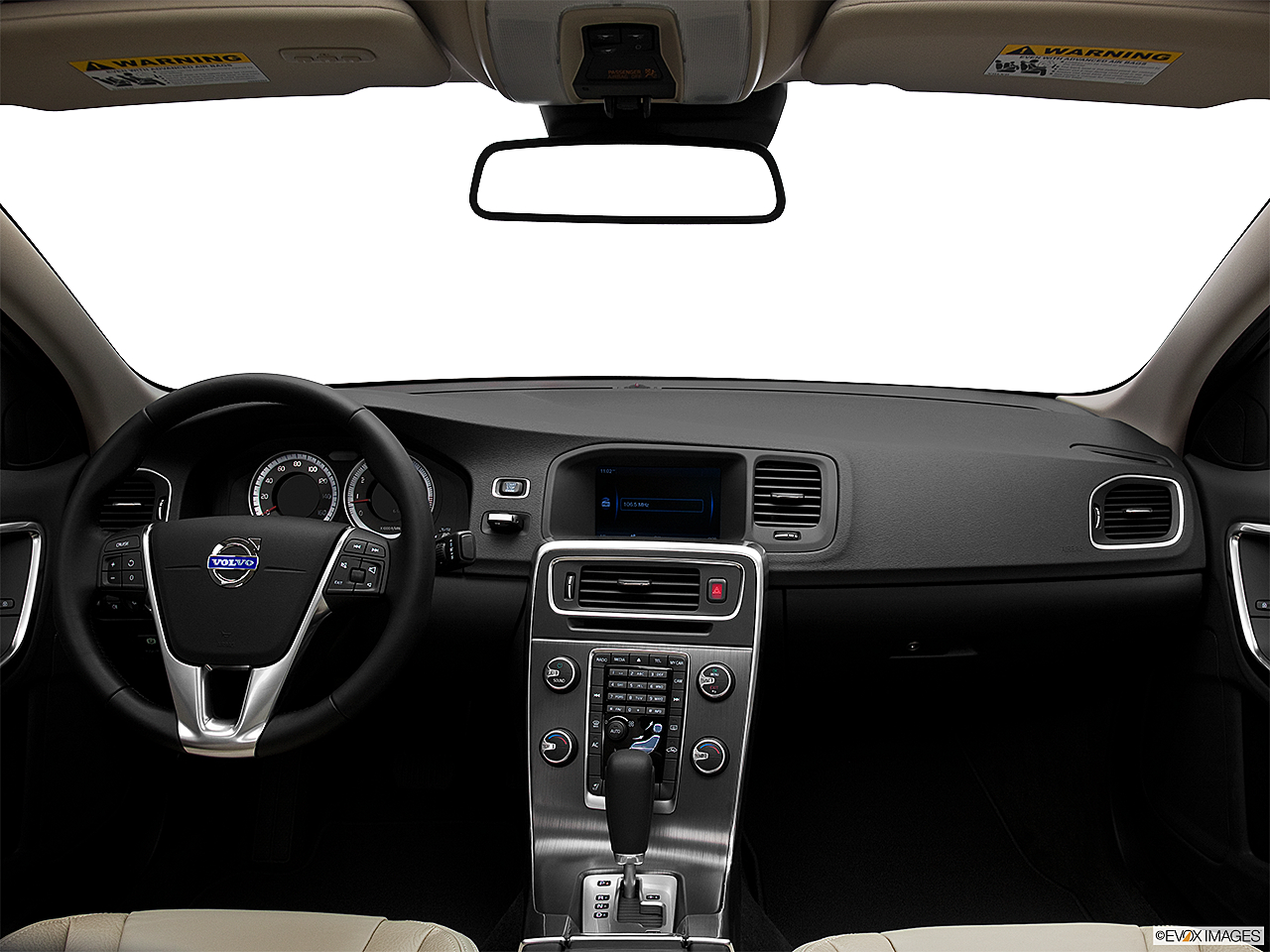 2012 Volvo S60 T5 SR, centered wide dash shot