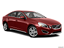 2012 Volvo S60 T5 SR, front passenger 3/4 w/ wheels turned.