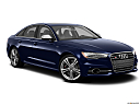 2013 Audi S6 4.0TFSI Seven-speed S Tronic transmission, front passenger 3/4 w/ wheels turned.