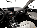 2013 Audi S6 4.0TFSI Seven-speed S Tronic transmission, center console/passenger side.
