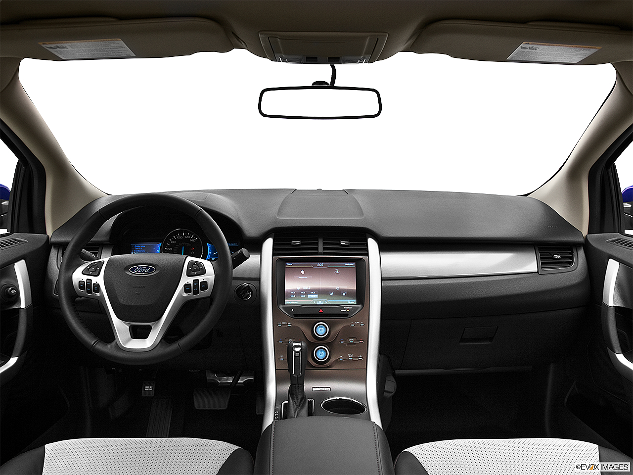 2013 Ford Edge SEL, centered wide dash shot