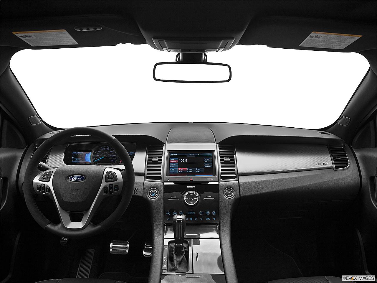 2013 Ford Taurus SHO, centered wide dash shot