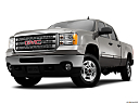2013 GMC Sierra 2500HD SLE, front angle view, low wide perspective.