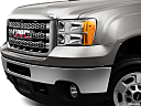 2013 GMC Sierra 2500HD SLE, close up of grill.
