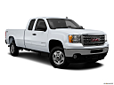 2013 GMC Sierra 2500HD SLE, front passenger 3/4 w/ wheels turned.