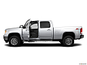 2013 GMC Sierra 2500HD SLT, driver's side profile with drivers side door open.