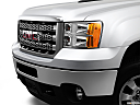 2013 GMC Sierra 2500HD SLT, close up of grill.