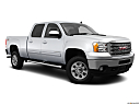 2013 GMC Sierra 2500HD SLT, front passenger 3/4 w/ wheels turned.