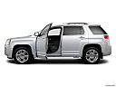 2013 GMC Terrain Denali, driver's side profile with drivers side door open.