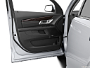 2013 GMC Terrain Denali, inside of driver's side open door, window open.