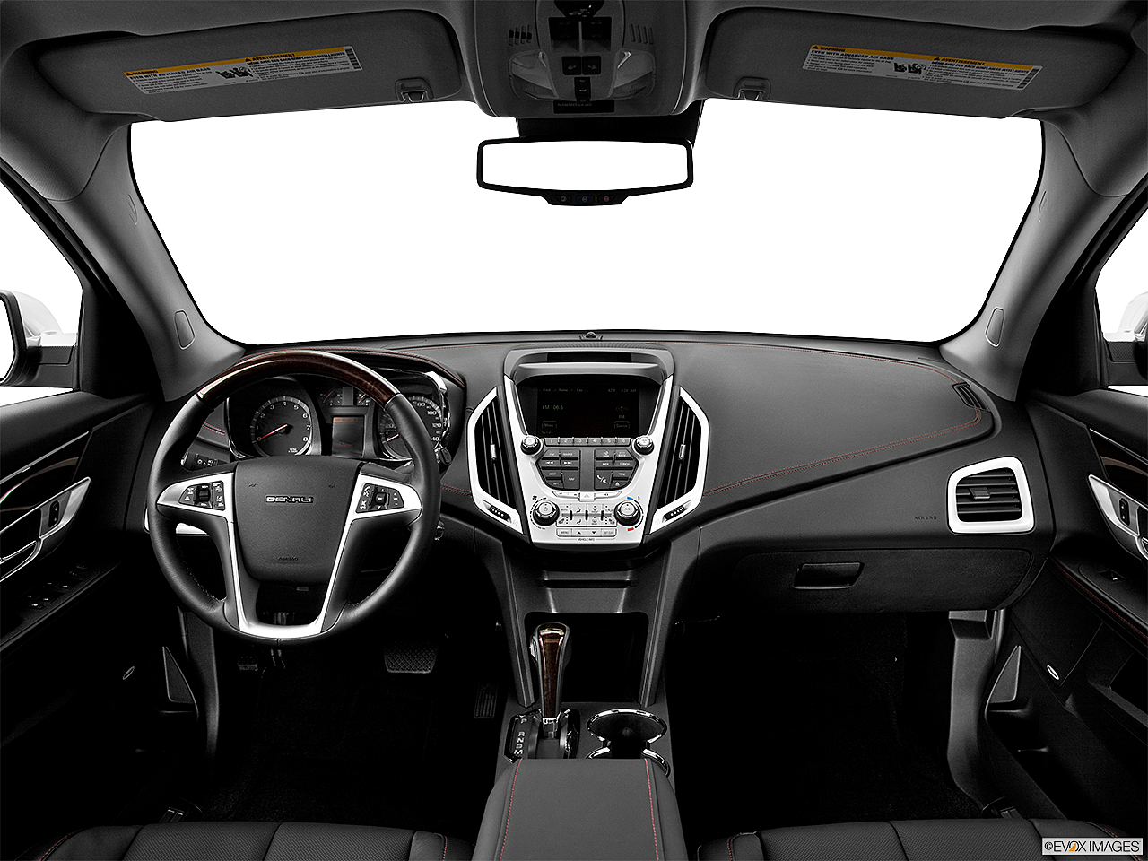 2013 GMC Terrain Denali, centered wide dash shot