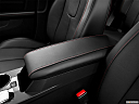 2013 GMC Terrain Denali, front center console with closed lid, from driver's side looking down