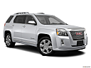 2013 GMC Terrain Denali, front passenger 3/4 w/ wheels turned.